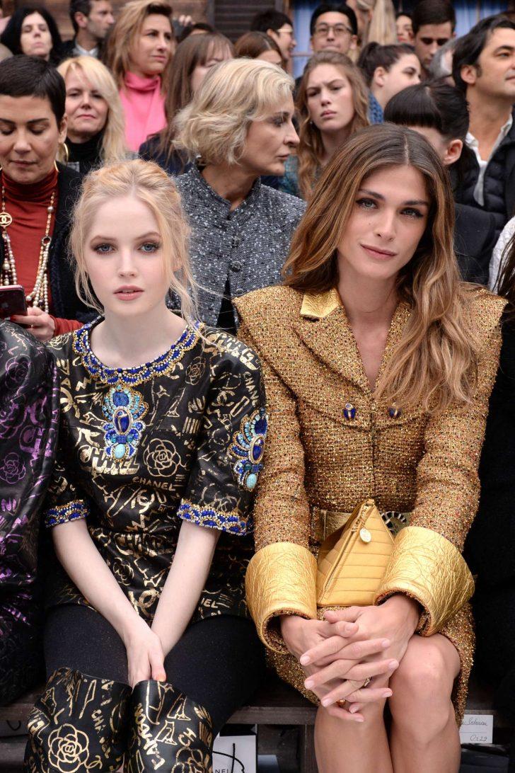 Ellie Bamber - Chanel Fashion Show in Paris