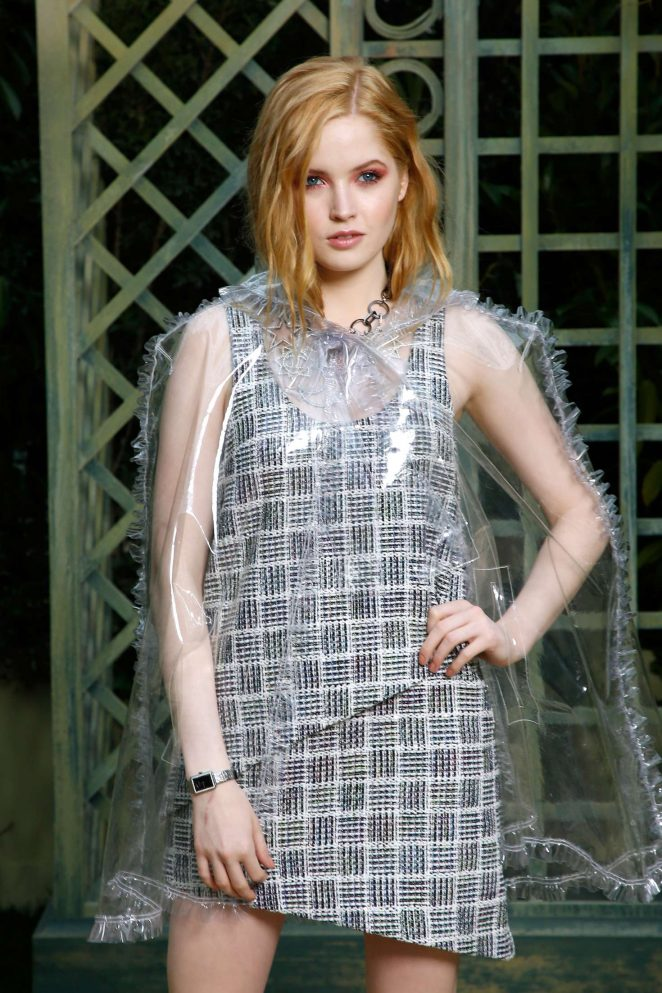 Ellie Bamber - Chanel Haute Couture SS 2018 Show in Paris