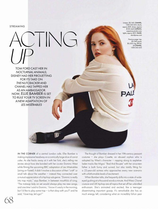 Ellie Bamber - Elle Australia Magazine (March 2019)