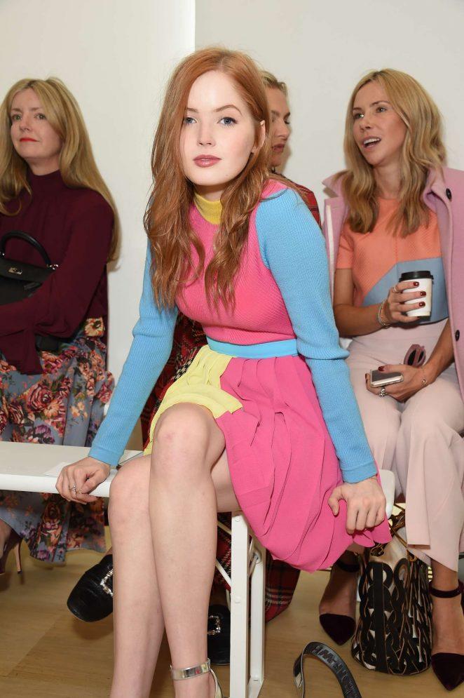 Ellie Bamber - Emilia Wickstead Fashion Show in London