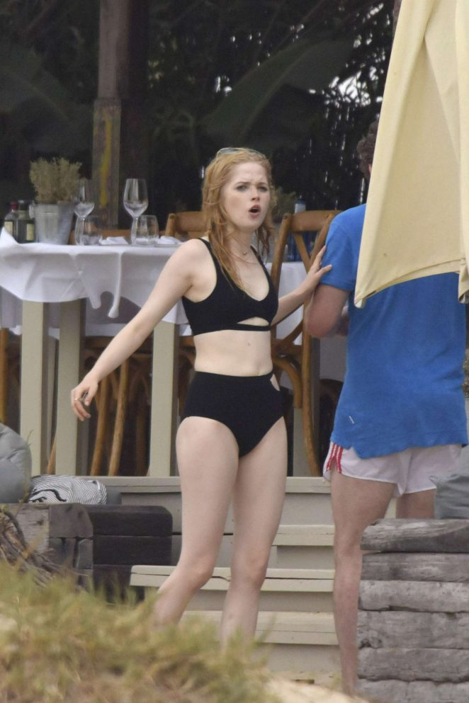 Ellie Bamber in Bikini with Richard Madden in Ibiza
