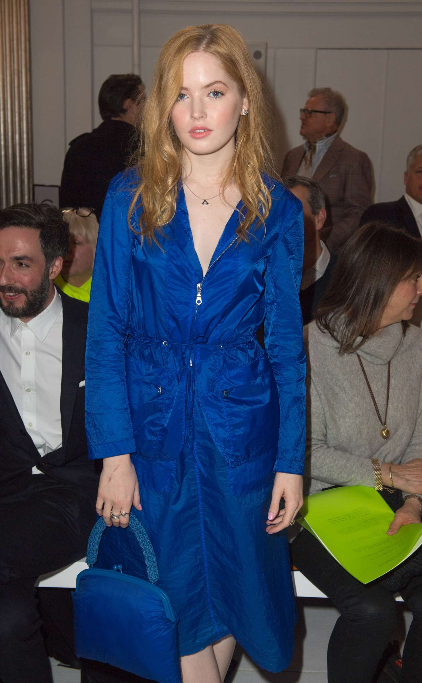 Ellie Bamber: Jasper Conran Fashion Show 2018 in London -16
