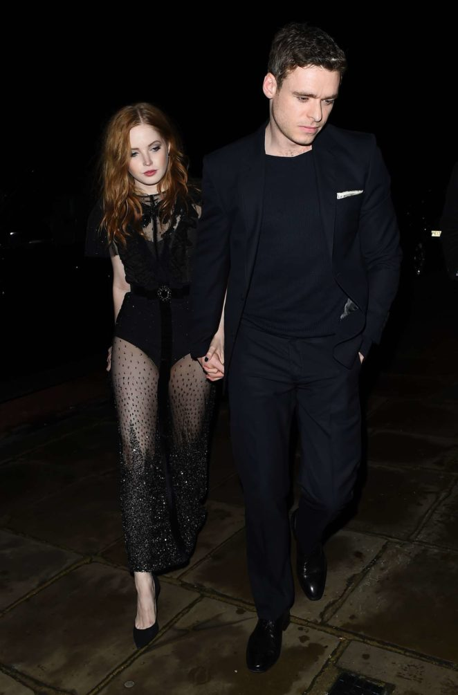 Ellie Bamber - Leaving Evgeny Lebedev Hosts a Lavish Christmas Party in London