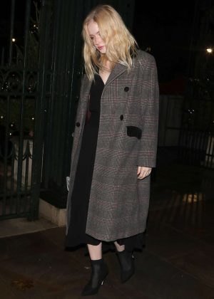Ellie Bamber - Leaving The Fayre Of St James's Christmas Concert in London