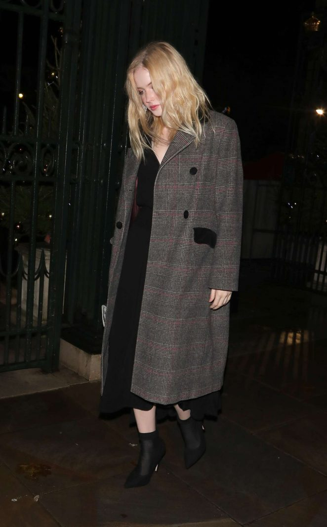 Ellie Bamber – Leaving The Fayre Of St James's Christmas Concert in London