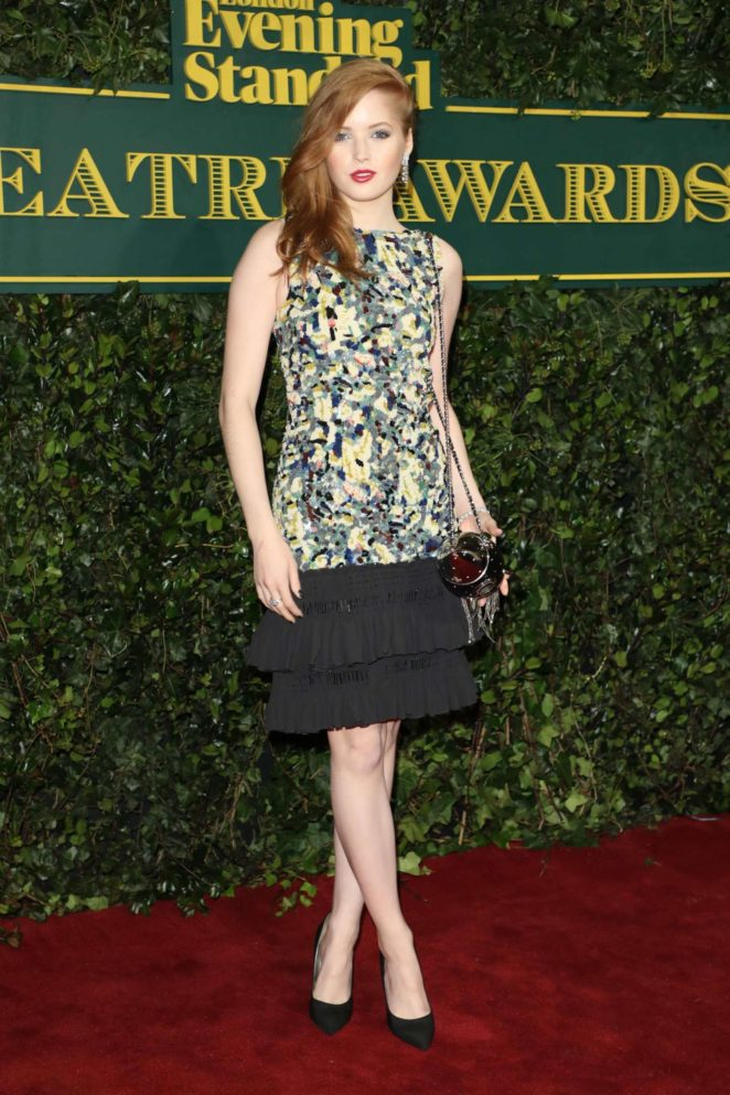 Ellie Bamber - London Evening Standard Theatre Awards 2017 in London