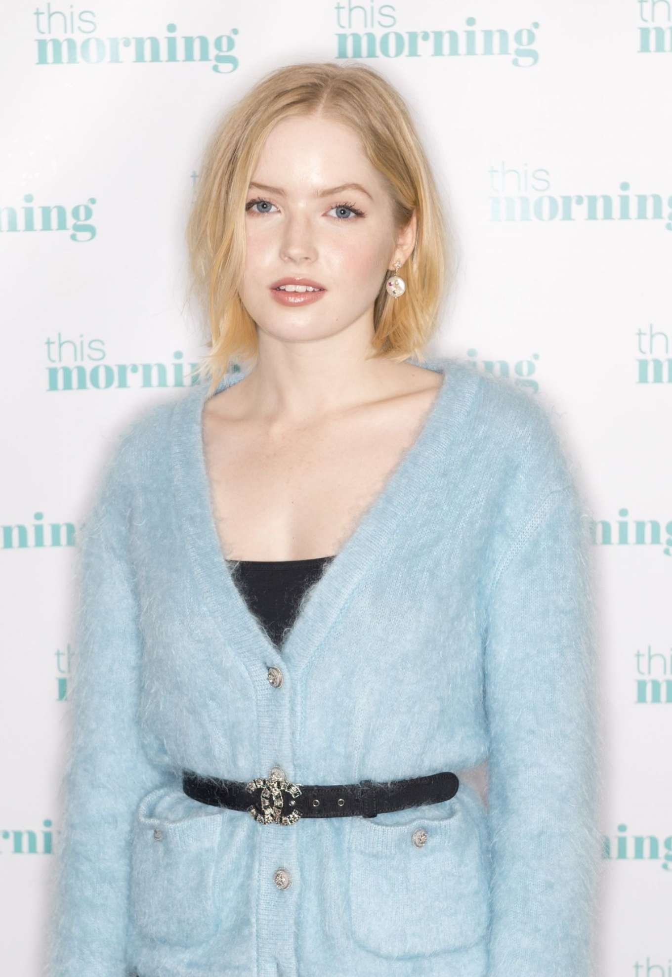 Ellie Bamber - On This Morning TV Show in London