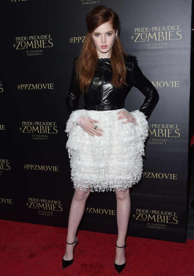 Ellie Bamber: Pride and Prejudice and Zombies LA Premiere -04