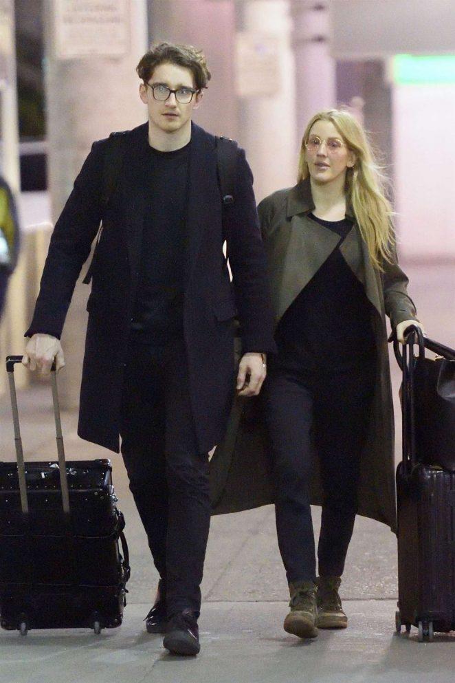 Ellie Goulding and boyfriend Caspar Jopling at JFK airport in NYC
