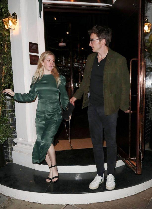Ellie Goulding and Caspar Jopling at Casa Cruz restaurant in Notting Hill