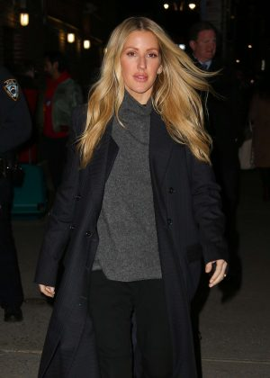Ellie Goulding - Arrives ar 'The Late Show with Stephen Colbert' in NYC