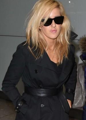 Ellie Goulding - Arrives at Heathrow Airport in London