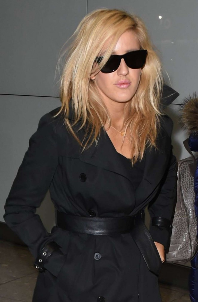 Ellie Goulding - Arrives at Heathrow Airport in London