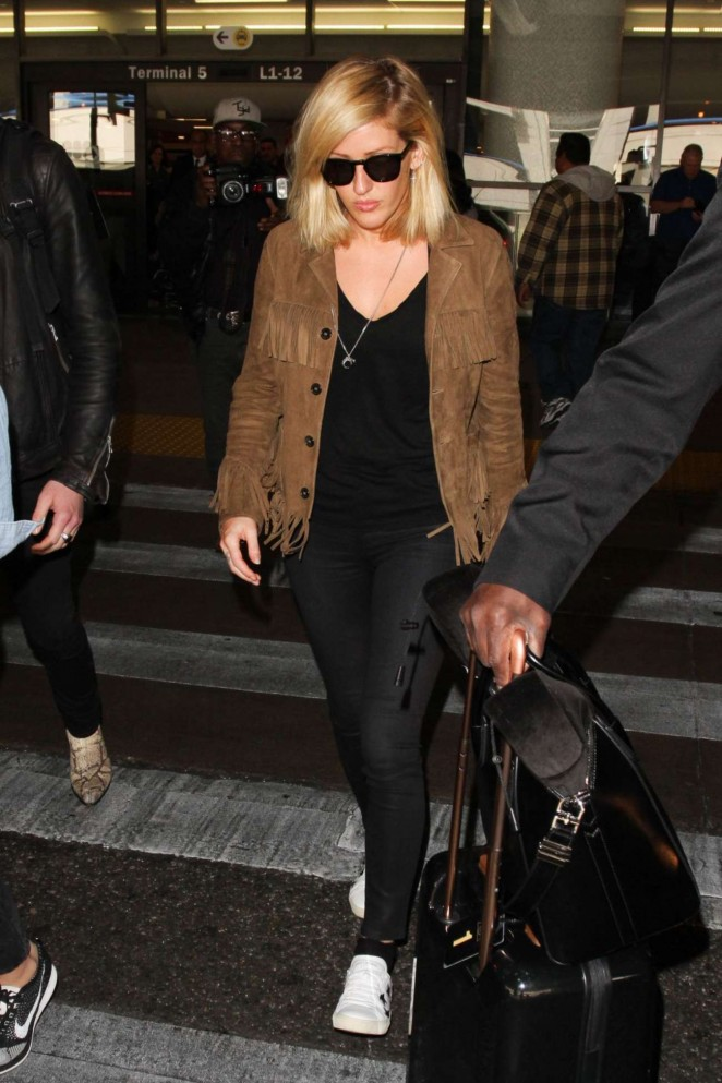 Ellie Goulding - Arrives at LAX Airport in Los Angeles