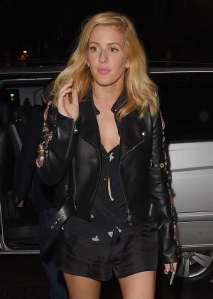 Ellie Goulding - Arrives at Mayfair For Dinner in London
