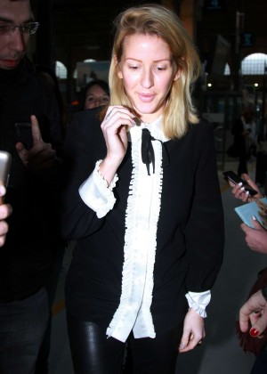 Ellie Goulding - Arrives at Paris Gare du Nord