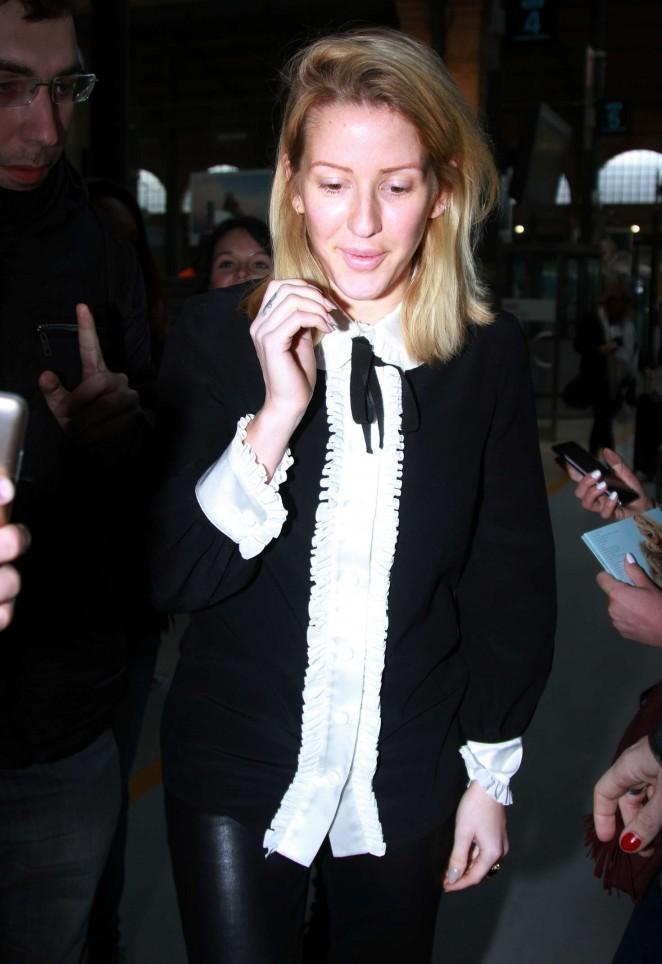 Ellie Goulding - Arrives at Paris Gare du Nord