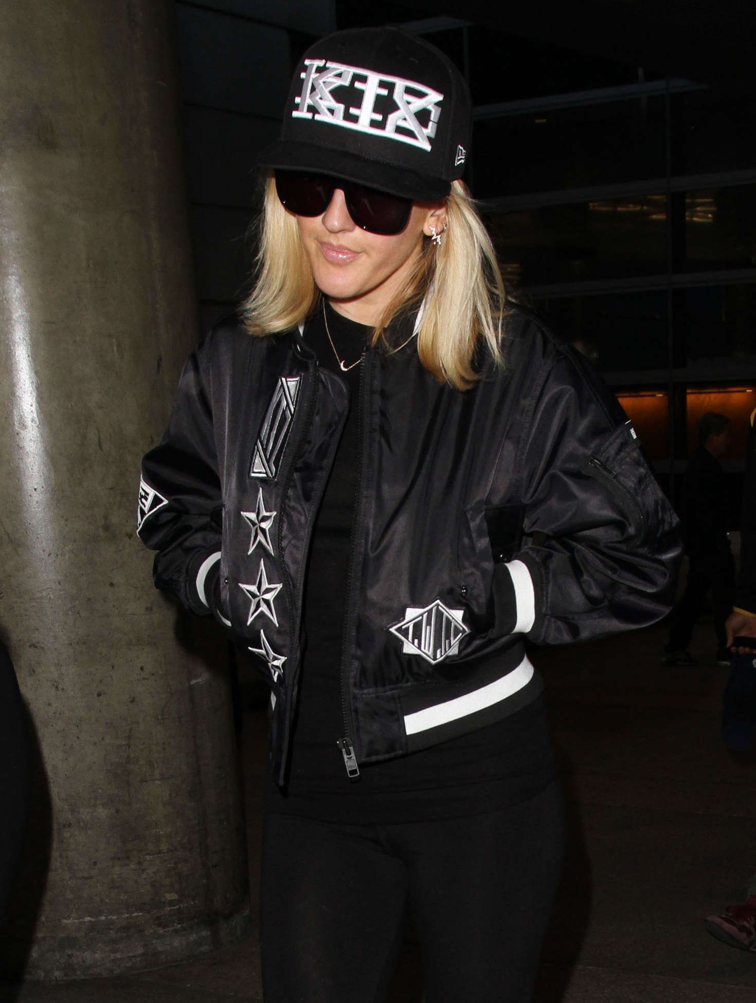 Ellie Goulding - Arriving at LAX Airport in LA