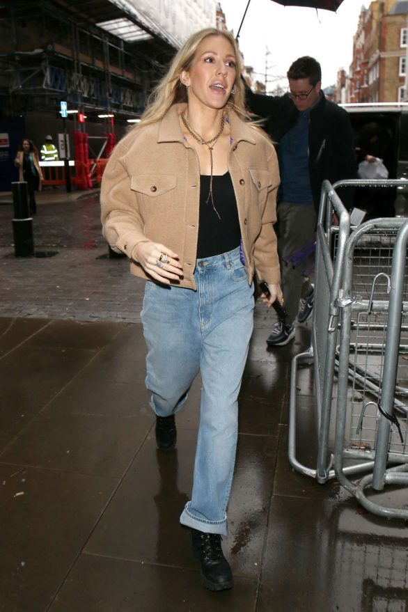 Ellie Goulding - Arriving for a BBC 1 Live Lounge Performance in London
