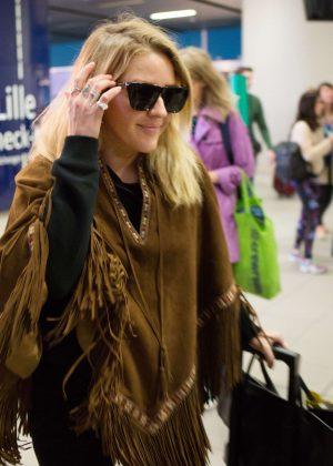 Ellie Goulding Arriving in Brussels
