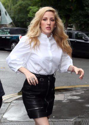 Ellie Goulding at Bourne and Hollingsworth Buildings Cafe in London