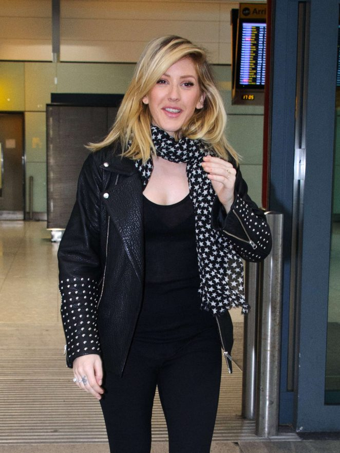 Ellie Goulding at Heathrow Airport in London