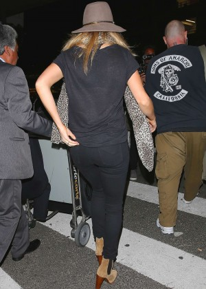 Ellie Goulding in Jeans at LAX airport in LA
