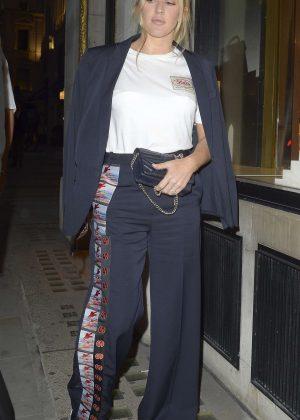Ellie Goulding at London Fashion Week in London