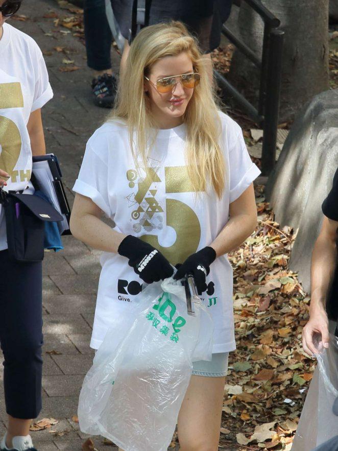 Ellie Goulding at RockCorps volunteer in Tokyo