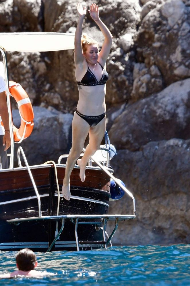 Ellie Goulding - Bikini Candids on Holiday in Capri