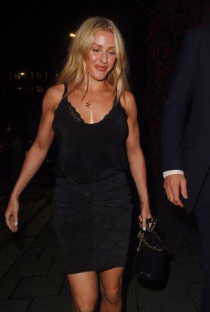 Ellie Goulding - Date night at Annabels Private Members Club in Mayfair