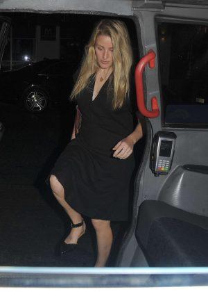 Ellie Goulding in Black Dress - Out in Mayfair