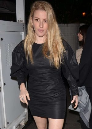 Ellie Goulding in Black Mini Dress - Exits the Chateau Marmont in LA