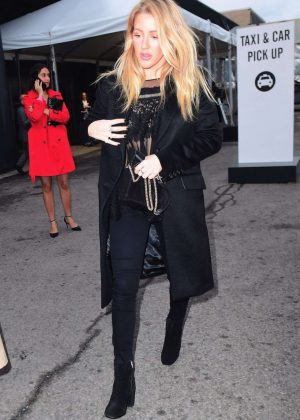 Ellie Goulding in Black Outfit Out in New York