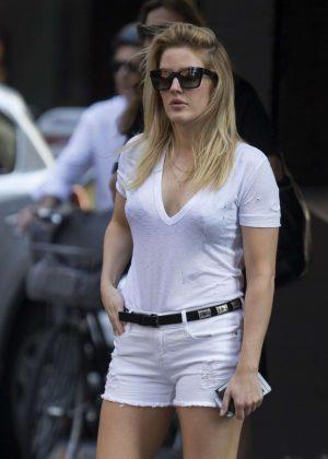 Ellie Goulding in Shorts Out in Sydney