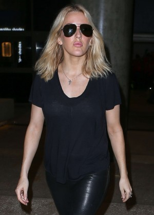 Ellie Goulding - LAX airport in LA