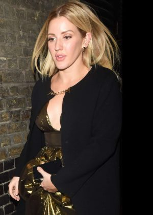 Ellie Goulding - Leaves Chiltern Firehouse in London