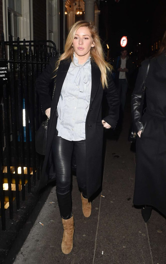Ellie Goulding - Leaving Arts Club Private Members Bar and Restaurant in London