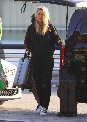 Ellie Goulding Leaving Barcelona