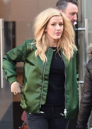 Ellie Goulding - Leaving Capital Radio Studios in London