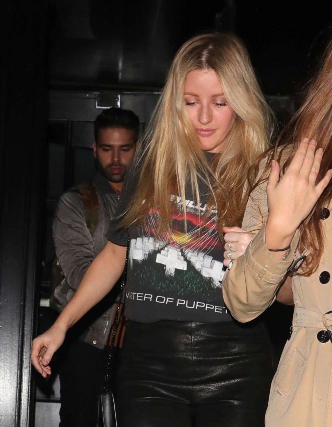 Ellie Goulding - Leaving RUYA restaurant in London