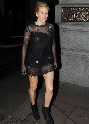 Ellie Goulding - Leaving the Rosewood Hotel in London