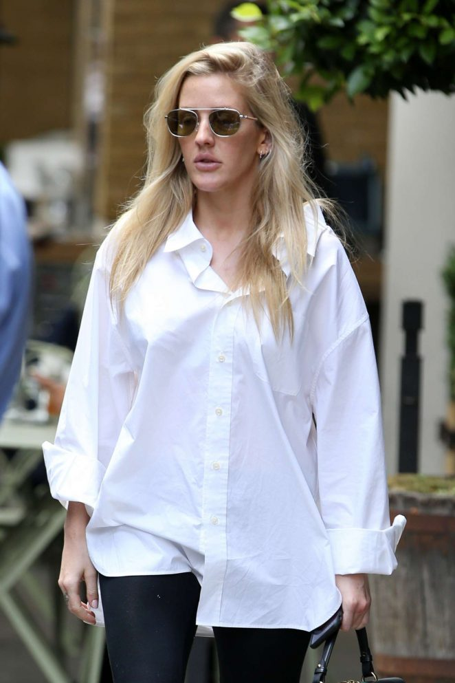Ellie Goulding - Out and about in London