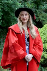 Ellie Goulding - Receiving an honorary Doctor of Arts degree at the University of Kent