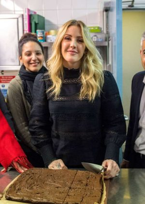 Ellie Goulding - Visit Homeless Project for Women in London