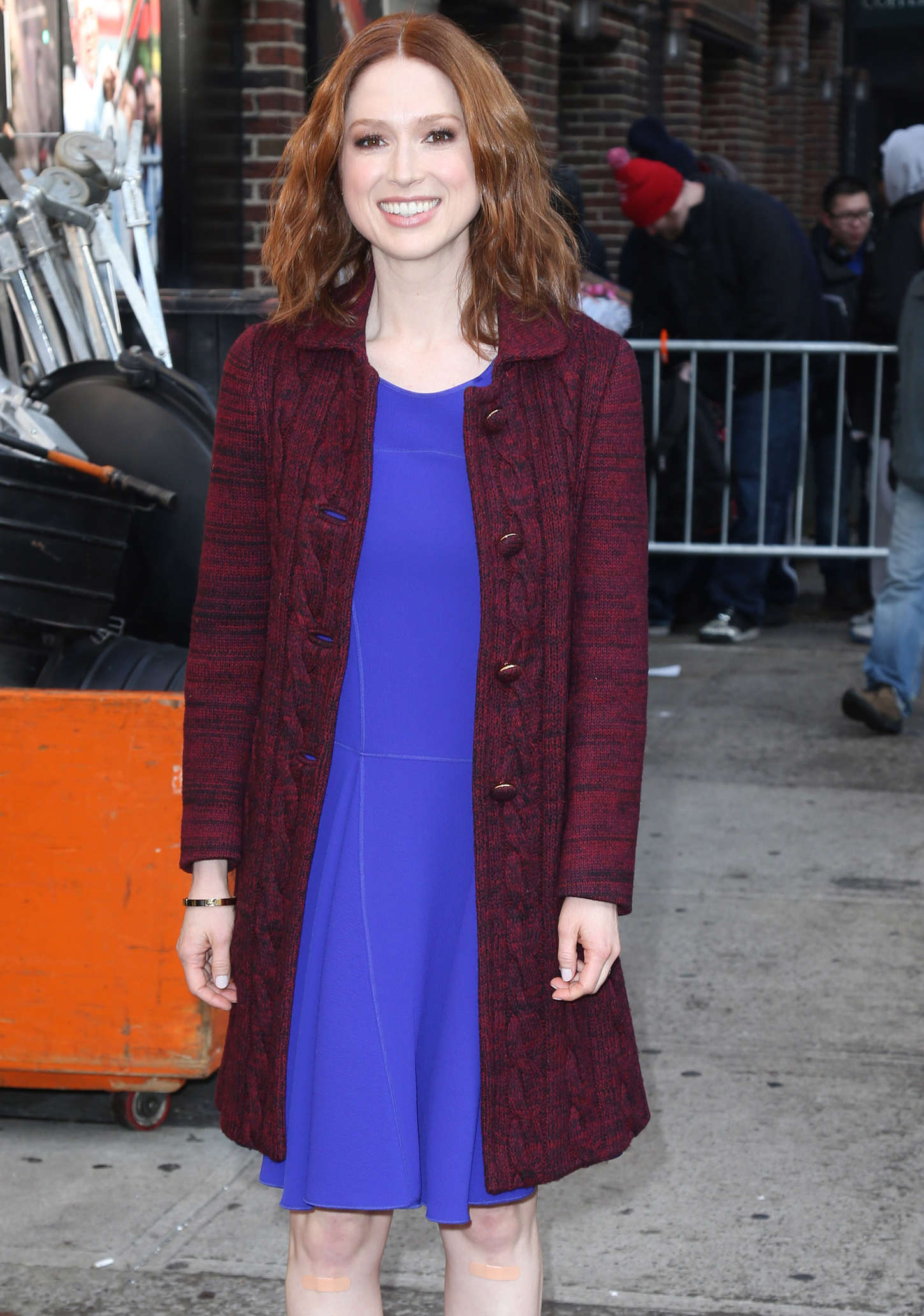 "Ellie Kemper - Arriving at the ""Late Show with David Letterman"" in NYC"