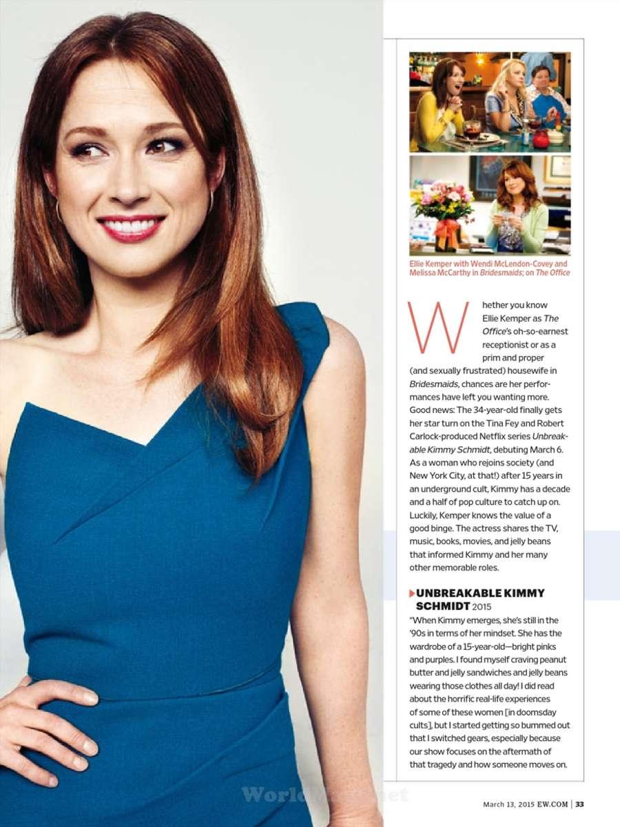 Ellie Kemper: Entertainment Weekly US 2015 -03 - GotCeleb