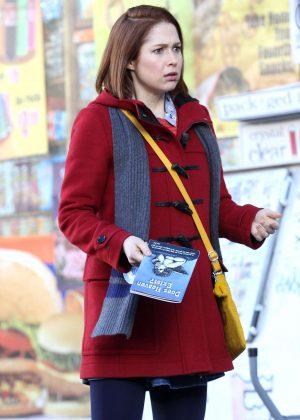 Ellie Kemper - Filming 'Unbreakable Kimmy Schmidt' in New York City