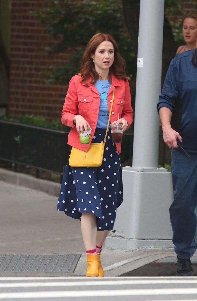 Ellie Kemper – Leaving the set of Unbreakable Kimmy Schmidt in NY
