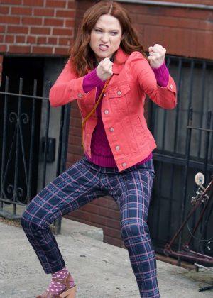 Ellie Kemper - On the set of 'Unbreakable Kimmy Schmidt' in New York